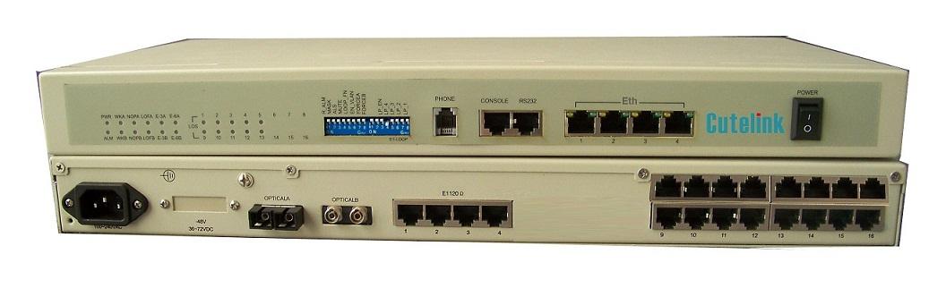 CL-VOE 4/8/16/24/30*FXO/FXS+4E1+4*Eth+2*Rs232 Voice Over Fiber PCM Multiplexer